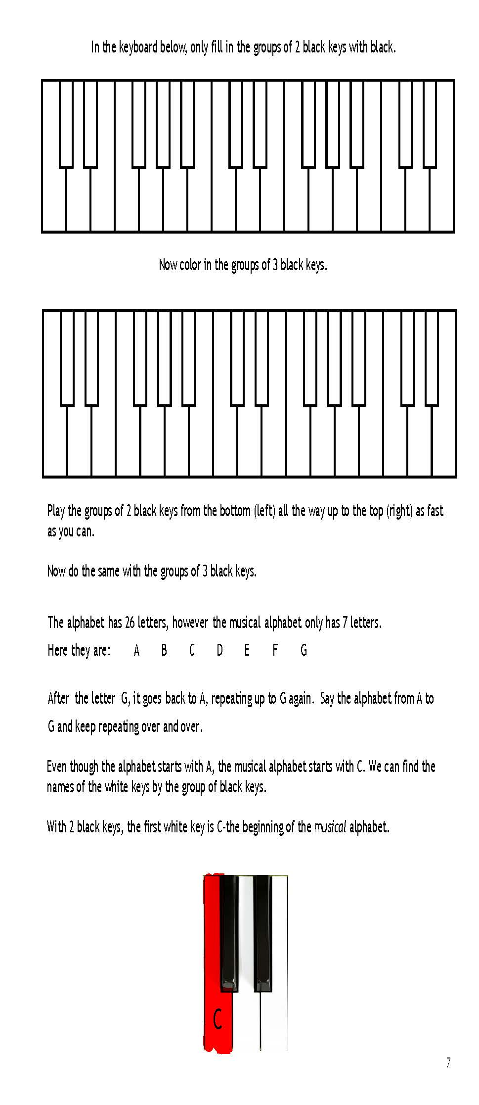 "7 Years Piano Pdf ""color it, say it, play it, and create it! - a piano method book to teach  little fingers to play!"" ages 4-8"