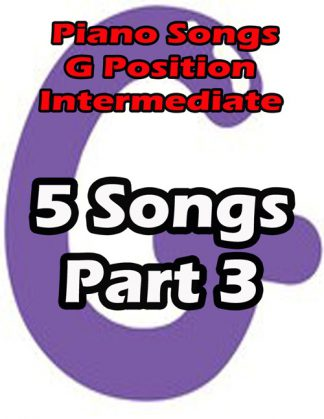 Piano songs in G position